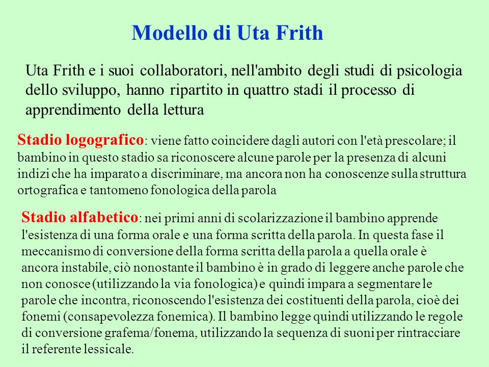 Modello di Uta Frith