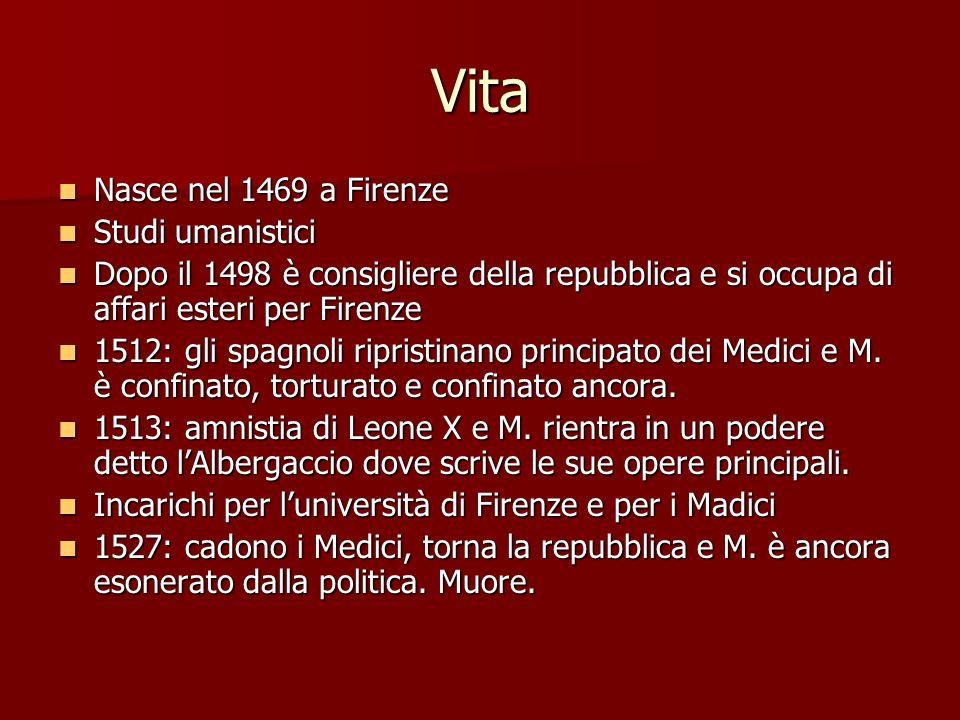 Vita Nasce nel 1469 a Firenze Studi umanistici