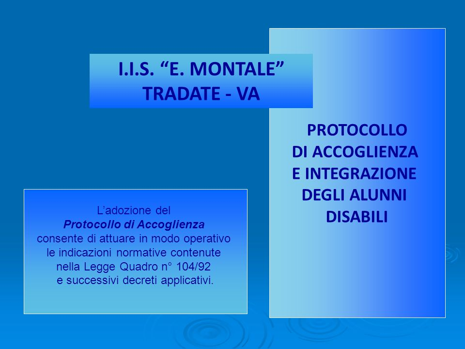 I.I.S. E. MONTALE TRADATE - VA