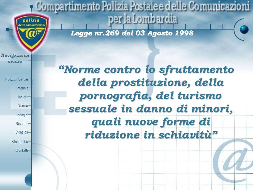Legge nr.269 del 03 Agosto 1998