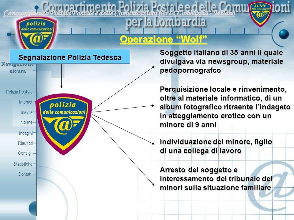 Segnalazione Polizia Tedesca