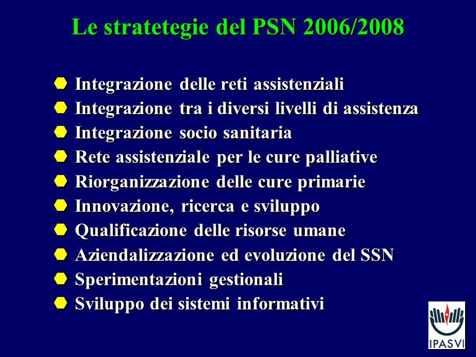 Le stratetegie del PSN 2006/2008