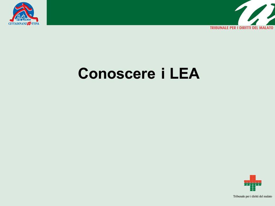 Conoscere i LEA