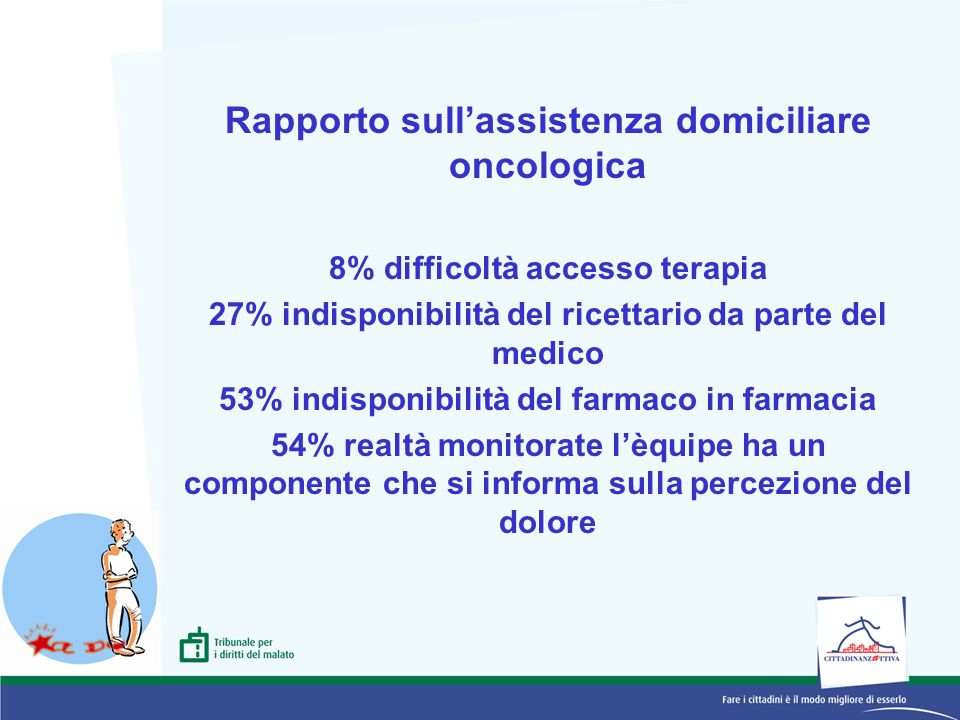 Rapporto sull'assistenza domiciliare oncologica