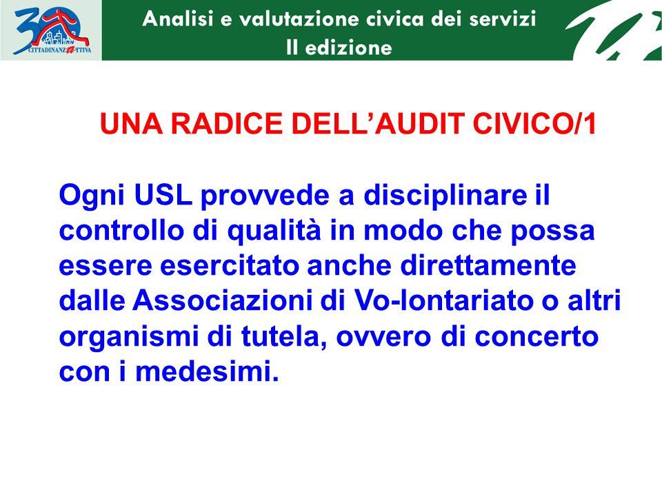 UNA RADICE DELL'AUDIT CIVICO/1