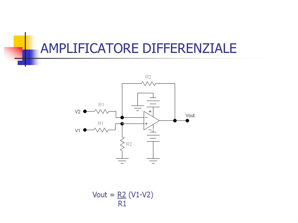 AMPLIFICATORE DIFFERENZIALE