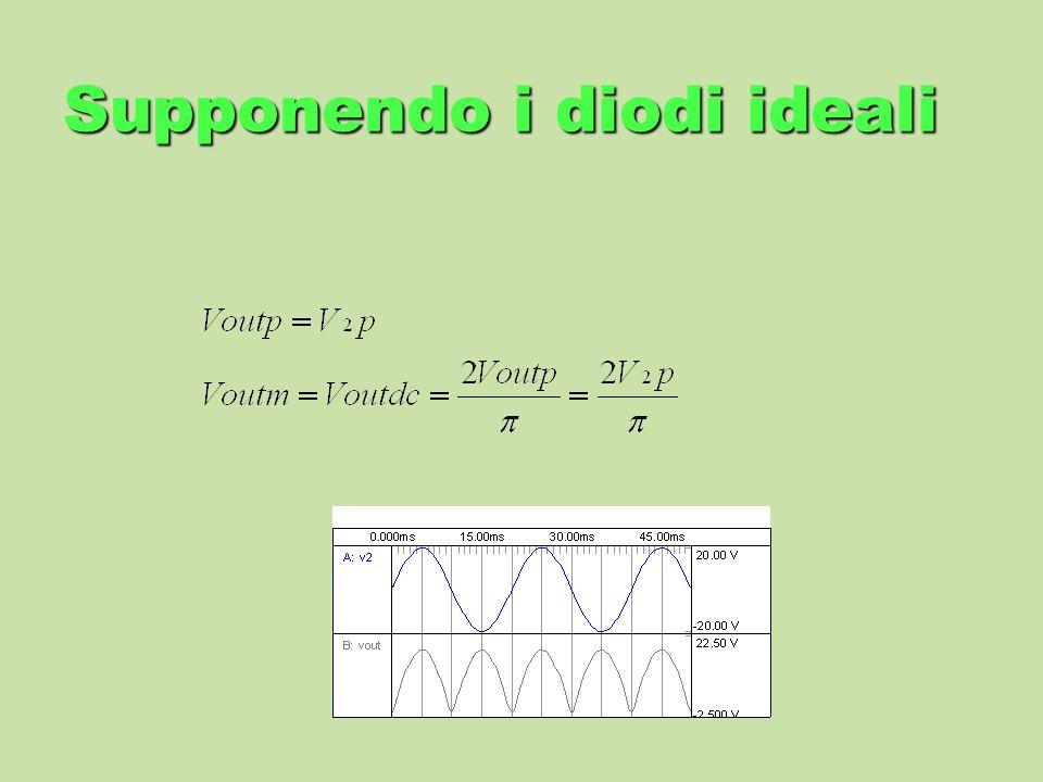 Supponendo i diodi ideali