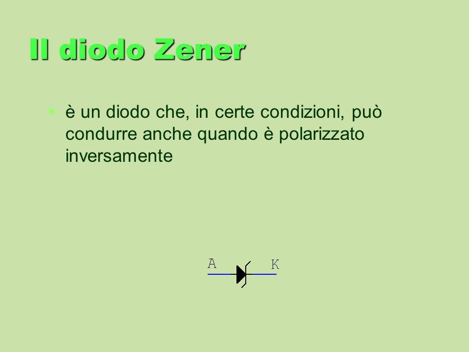 Il diodo Zenerè un diodo che, in certe condizioni, può condurre anche quando è polarizzato inversamente.