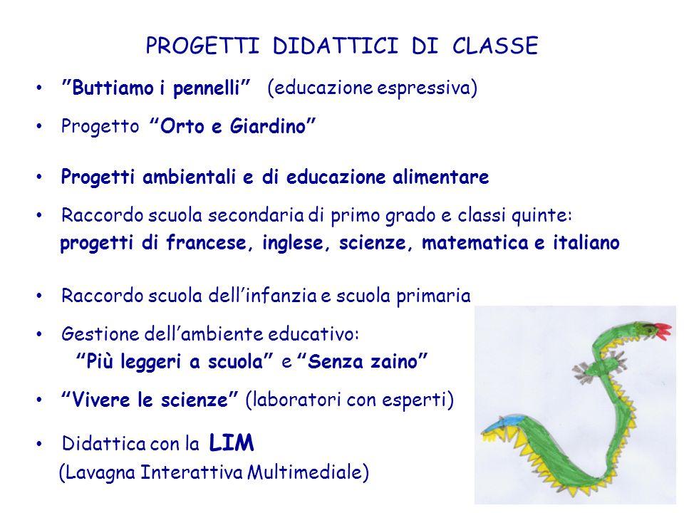 PROGETTI DIDATTICI DI CLASSE