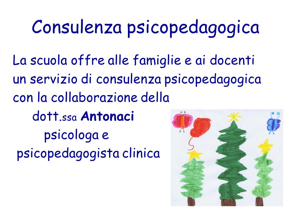 Consulenza psicopedagogica