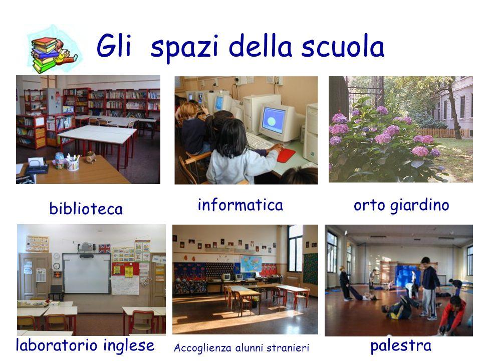 Gli spazi della scuola informatica orto giardino biblioteca