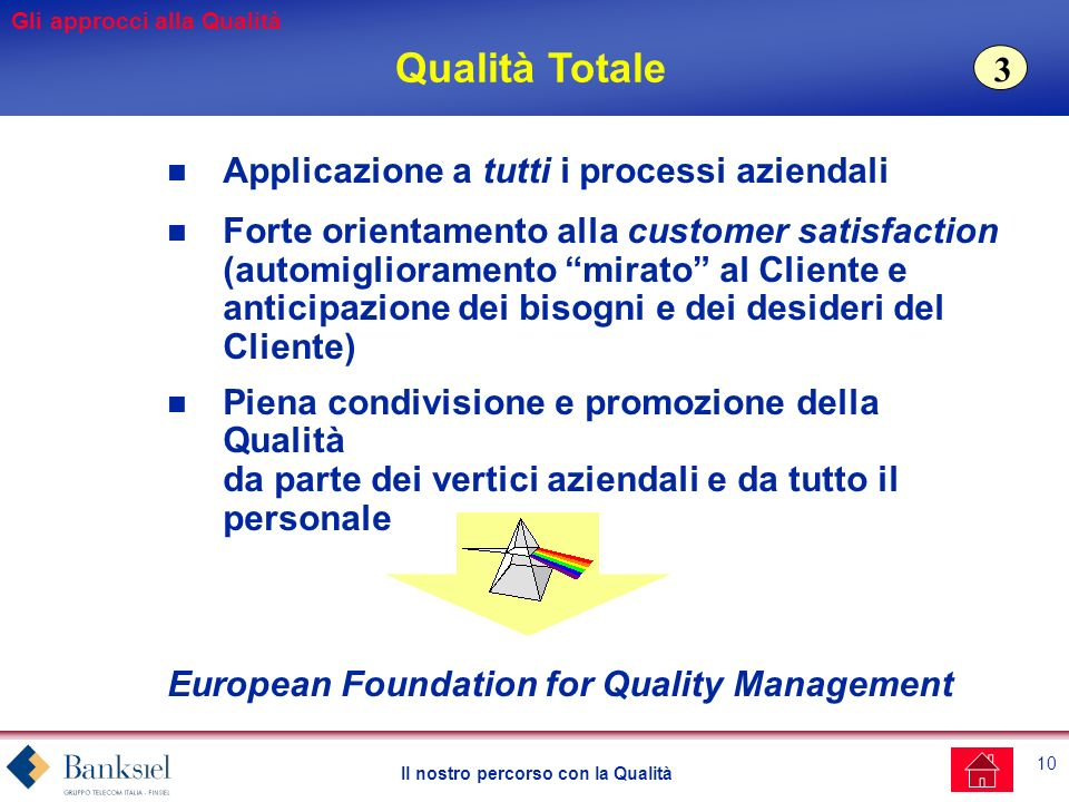 Qualità Totale 3 Applicazione a tutti i processi aziendali