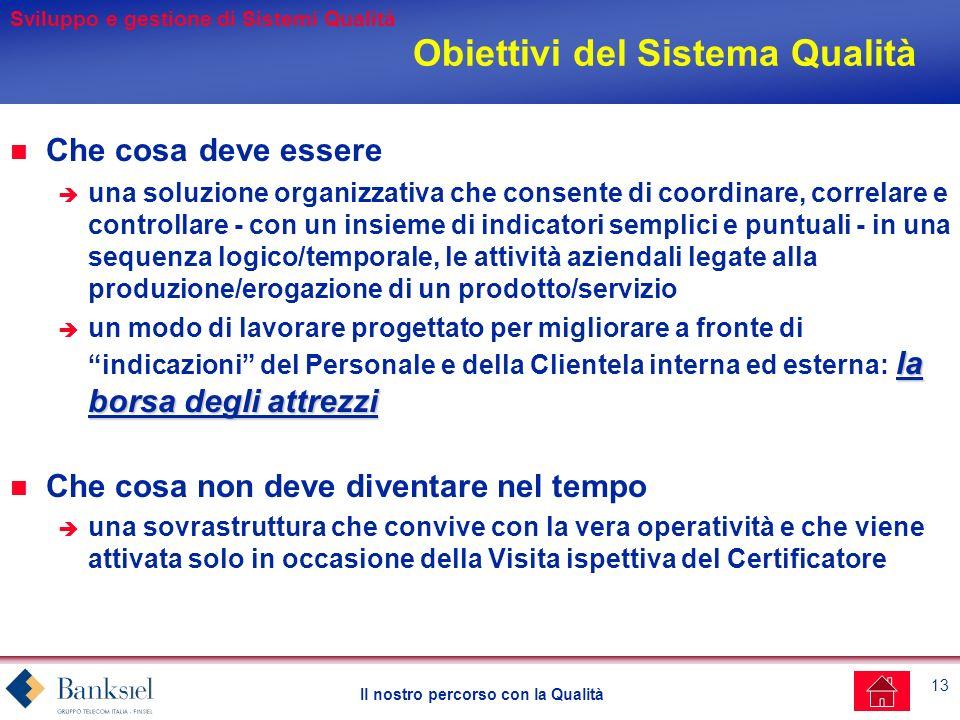 Obiettivi del Sistema Qualità