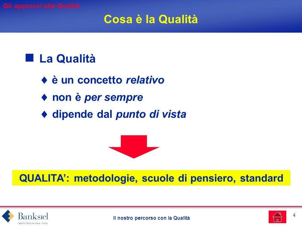 QUALITA': metodologie, scuole di pensiero, standard