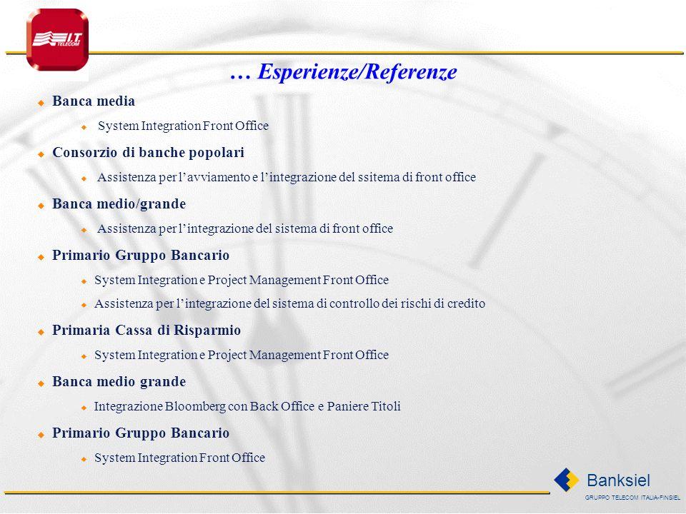 … Esperienze/Referenze