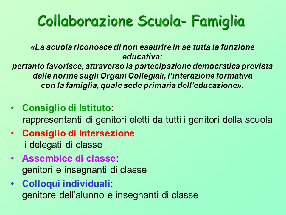 Collaborazione Scuola- Famiglia