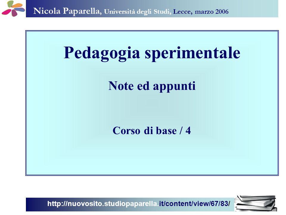 Pedagogia sperimentale