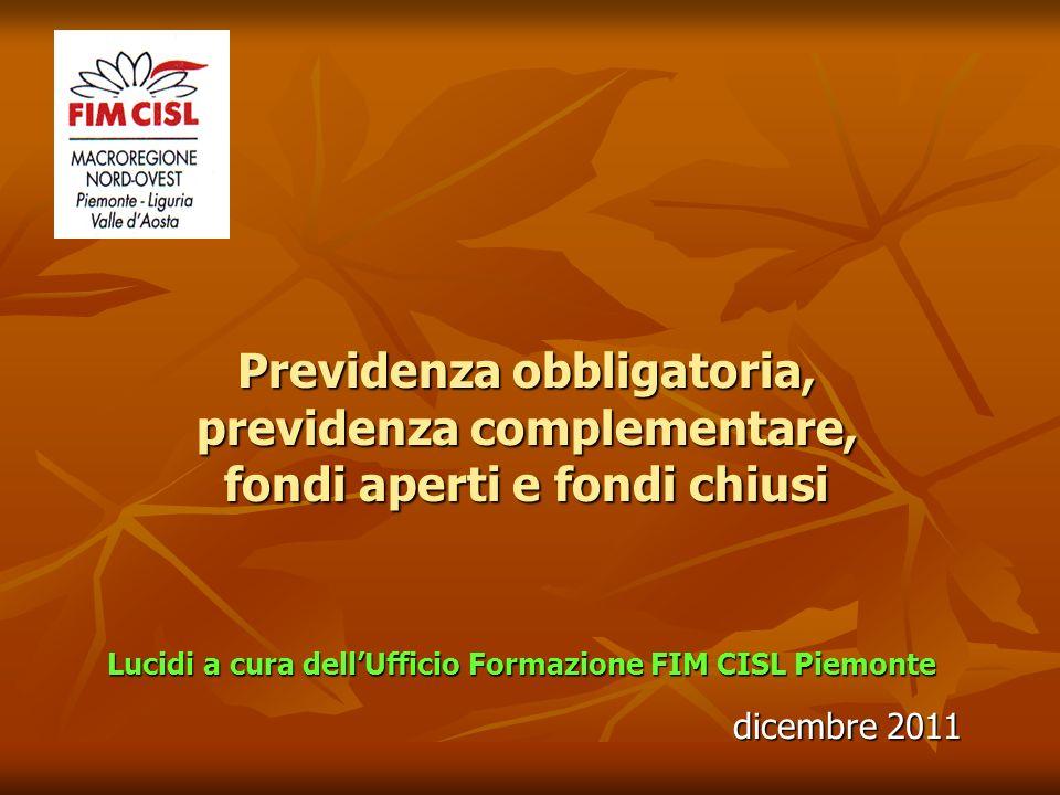Lucidi a cura dell'Ufficio Formazione FIM CISL Piemonte