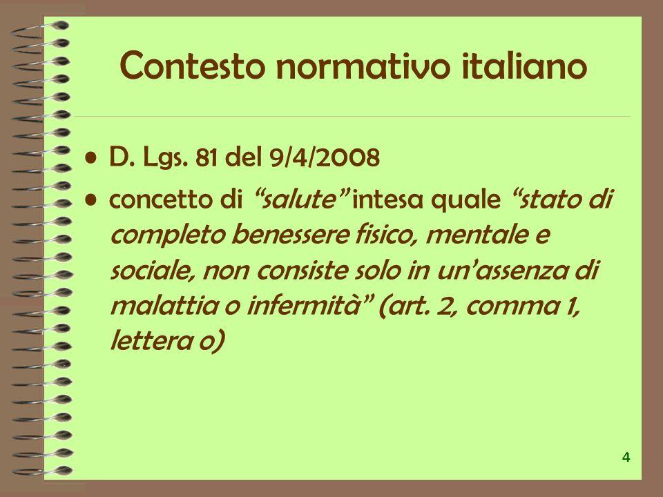 Contesto normativo italiano
