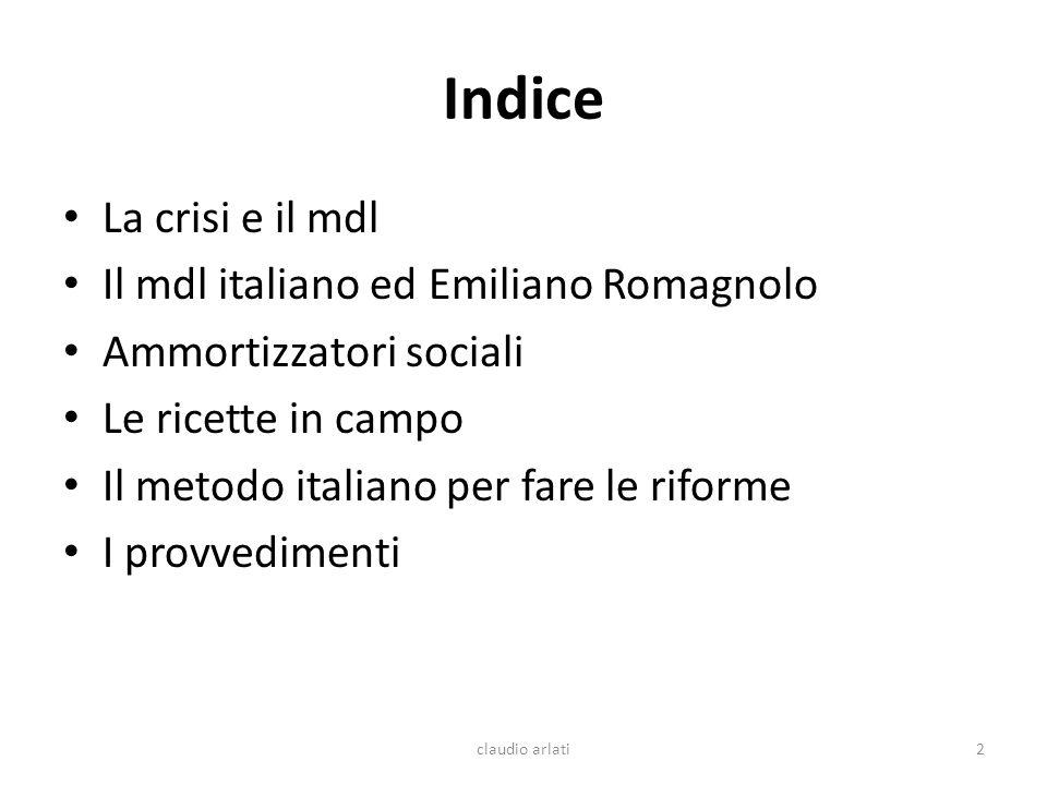 Indice La crisi e il mdl Il mdl italiano ed Emiliano Romagnolo