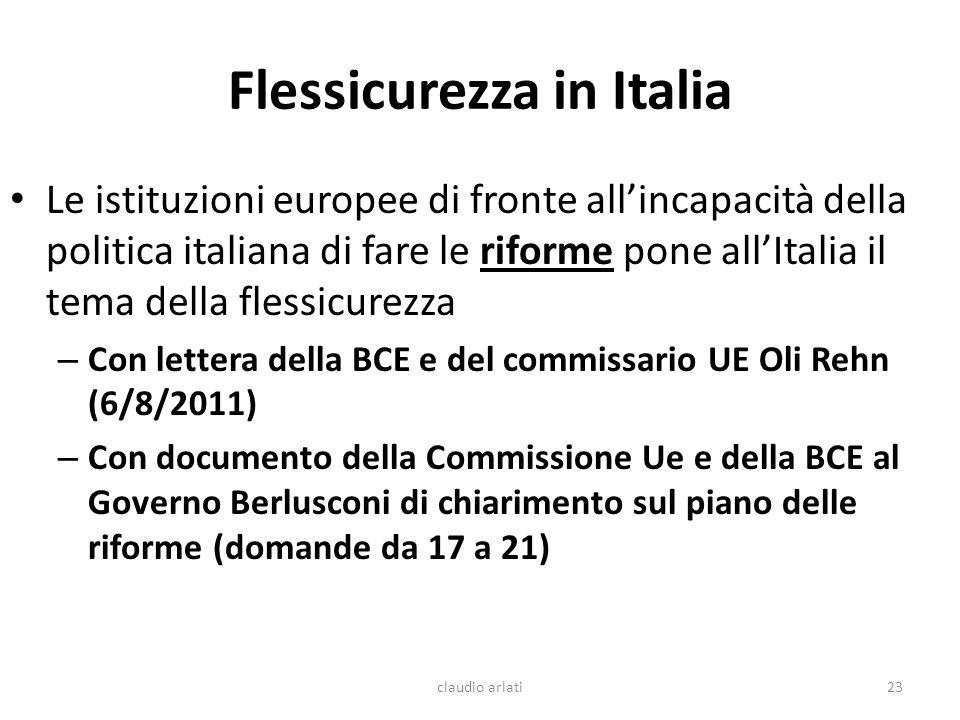 Flessicurezza in Italia