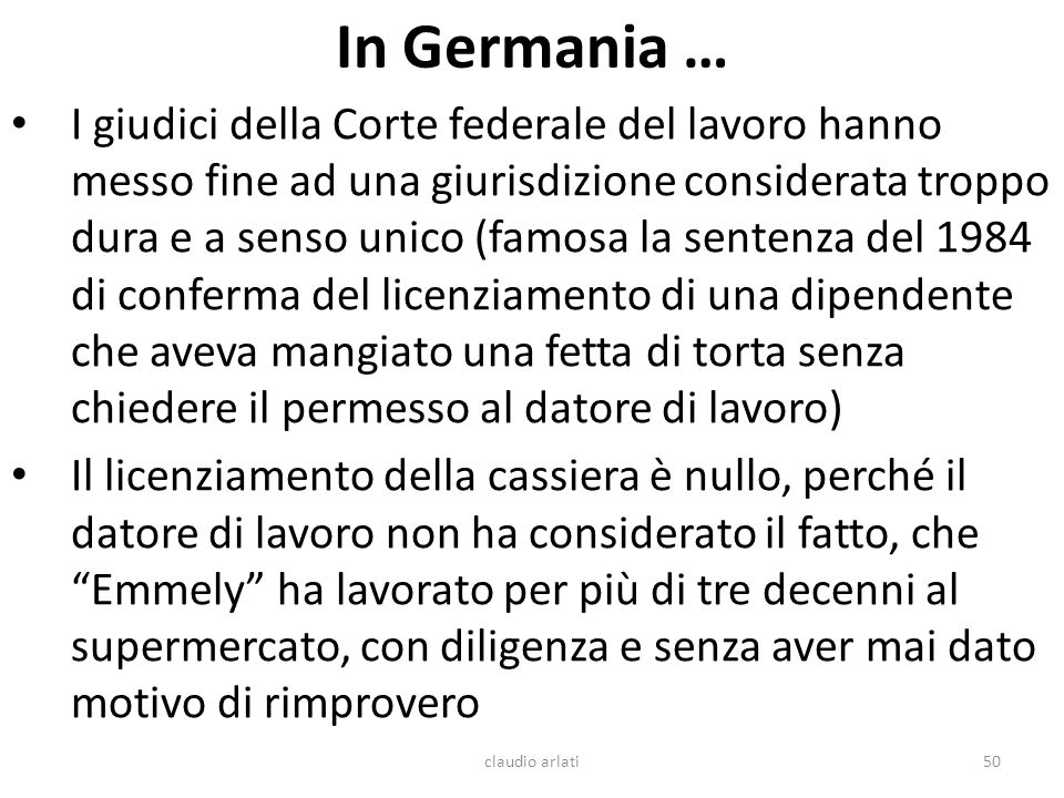 In Germania …