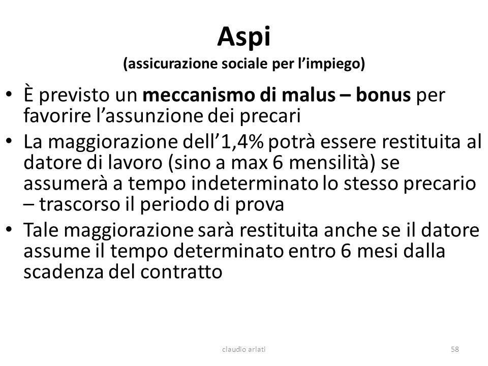 Aspi (assicurazione sociale per l'impiego)