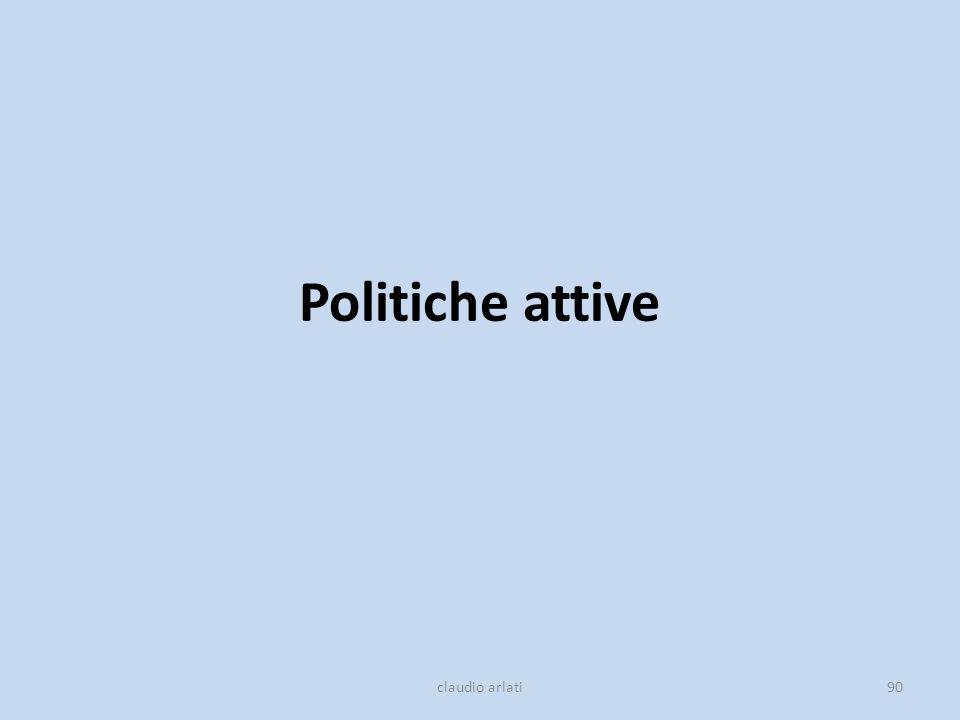 Politiche attive claudio arlati