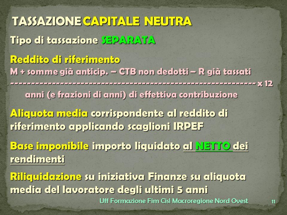 TASSAZIONE CAPITALE NEUTRA