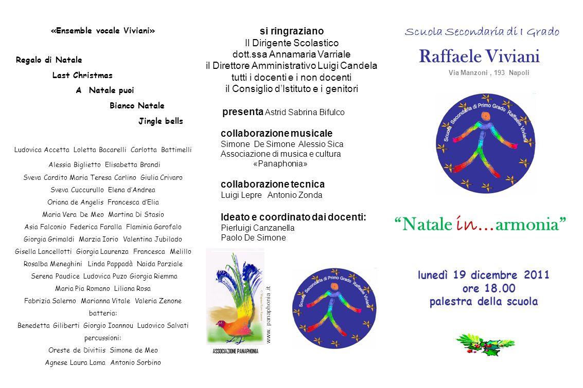 «Ensemble vocale Viviani» Scuola Secondaria di I Grado