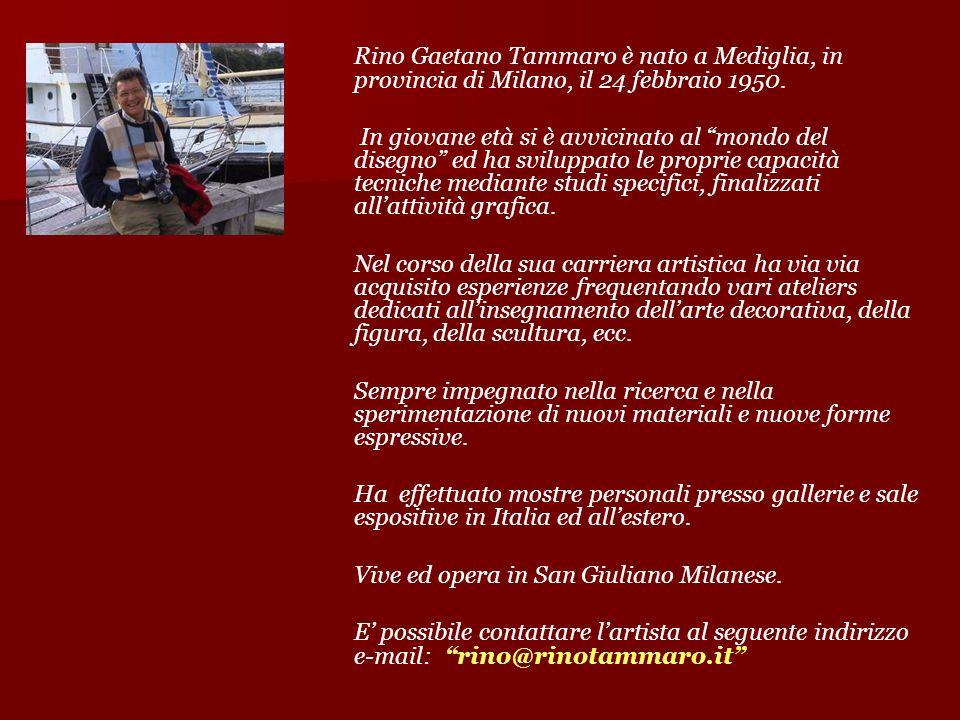 Rino Gaetano Tammaro è nato a Mediglia, in provincia di Milano, il 24 febbraio 1950.