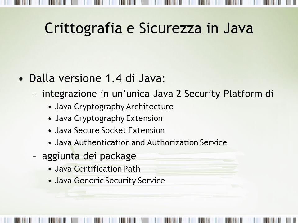 Crittografia e Sicurezza in Java