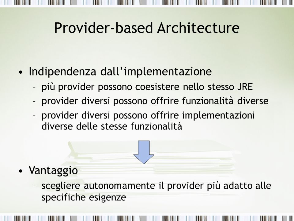 Provider-based Architecture