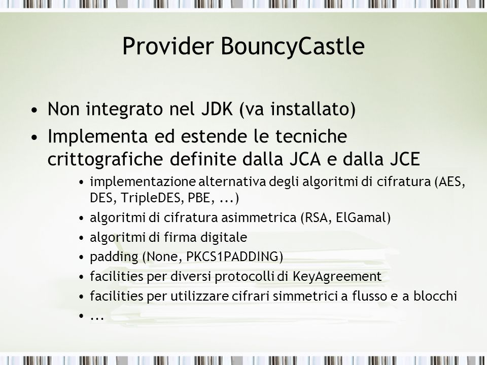 Provider BouncyCastle