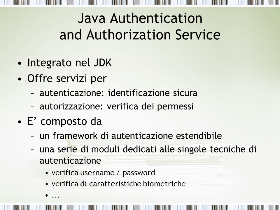 Java Authentication and Authorization Service