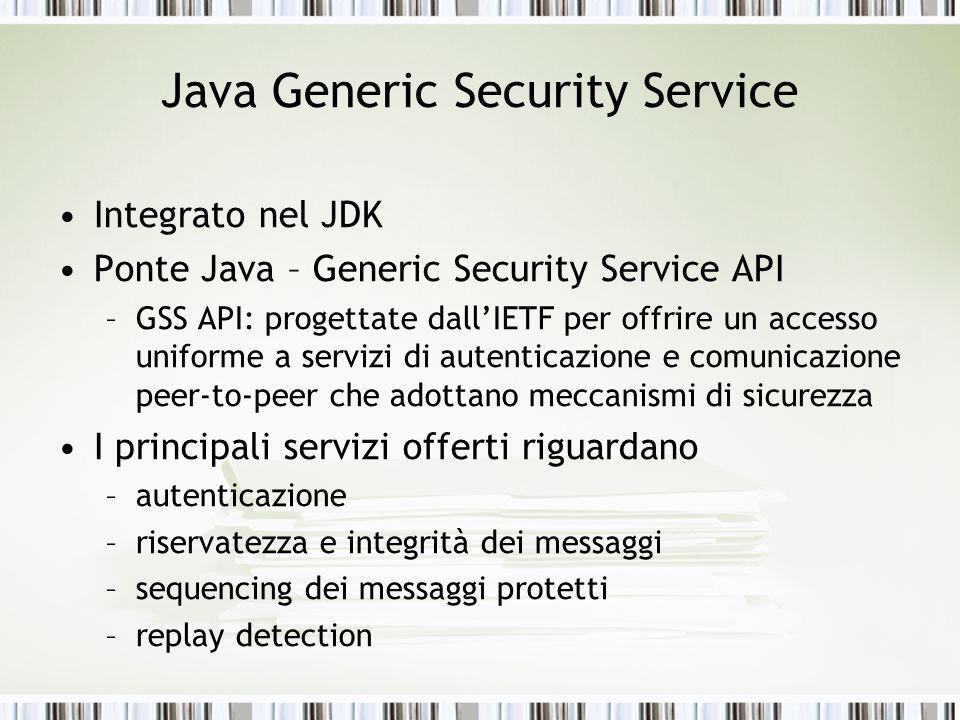 Java Generic Security Service
