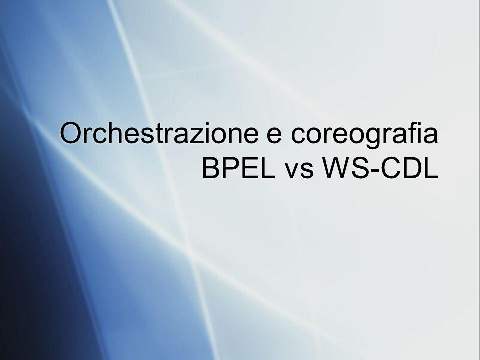 Orchestrazione e coreografia BPEL vs WS-CDL