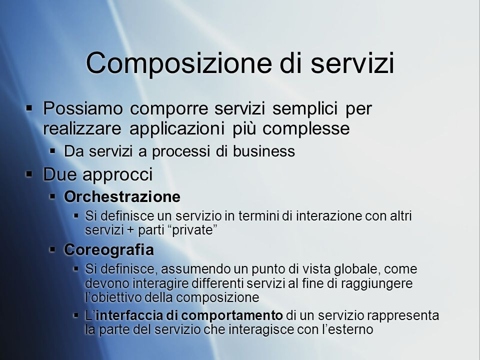 Composizione di servizi
