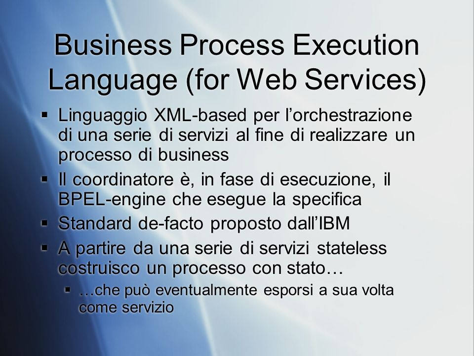 Business Process Execution Language (for Web Services)