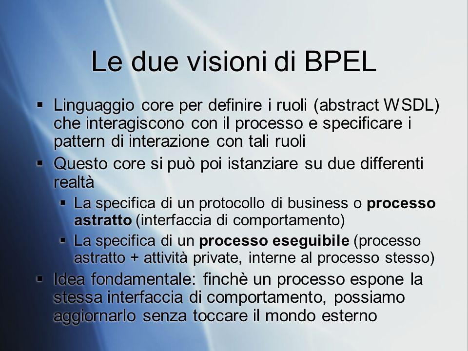 Le due visioni di BPEL