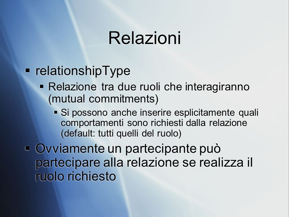 Relazioni relationshipType