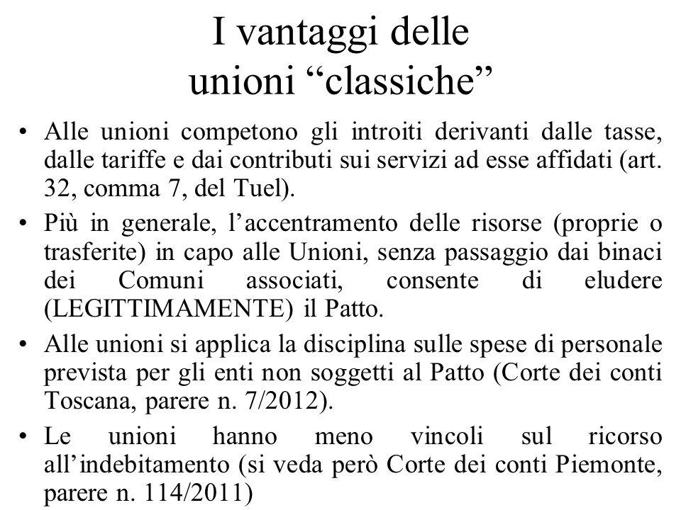 I vantaggi delle unioni classiche
