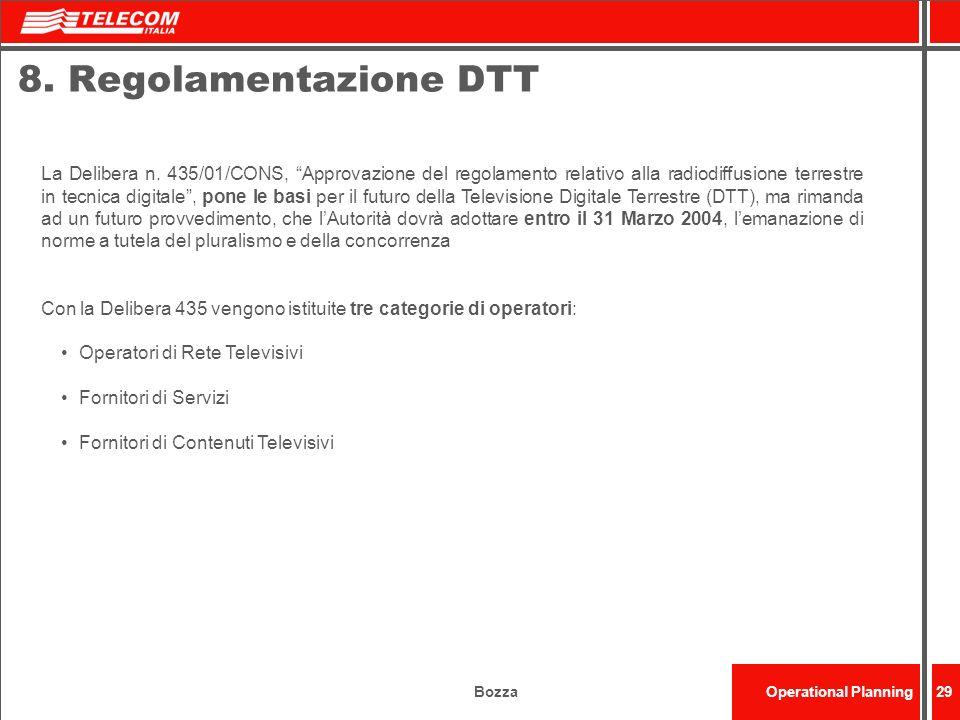 8. Regolamentazione DTT