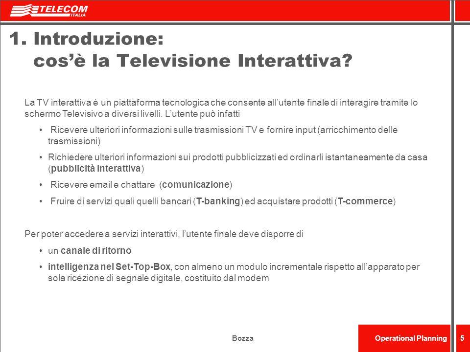 1. Introduzione: cos'è la Televisione Interattiva