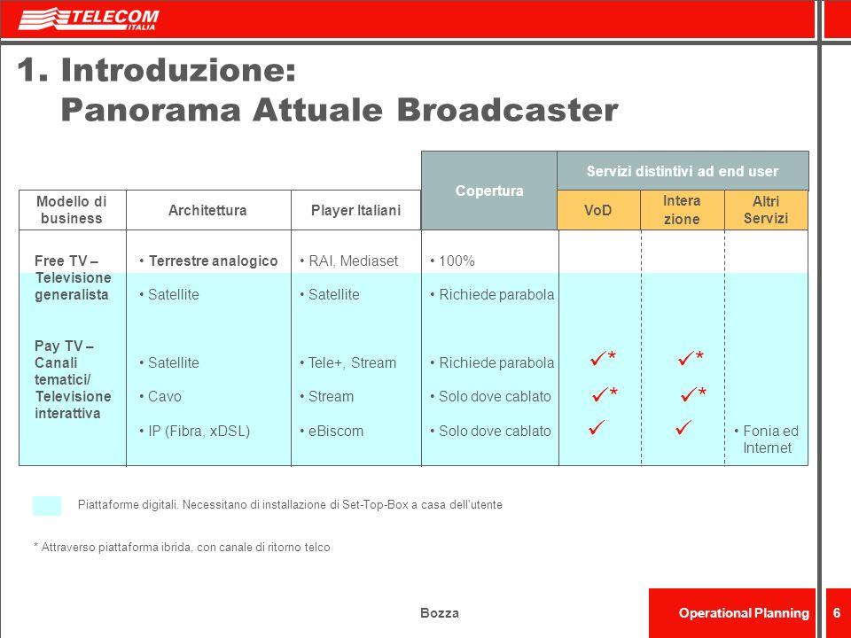 1. Introduzione: Panorama Attuale Broadcaster