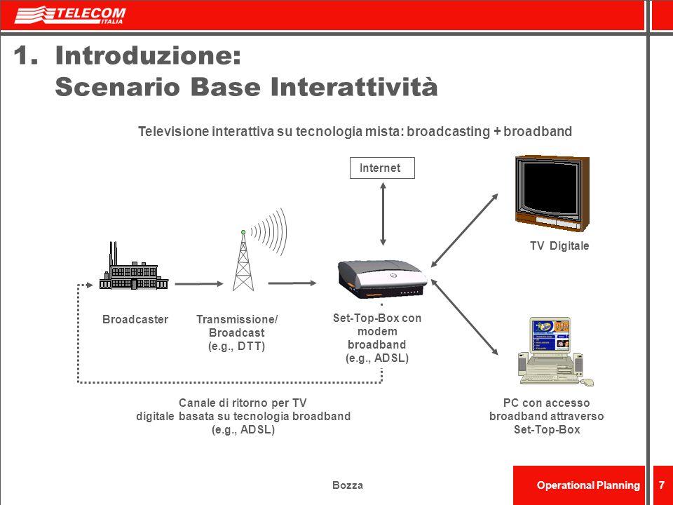 Introduzione: Scenario Base Interattività