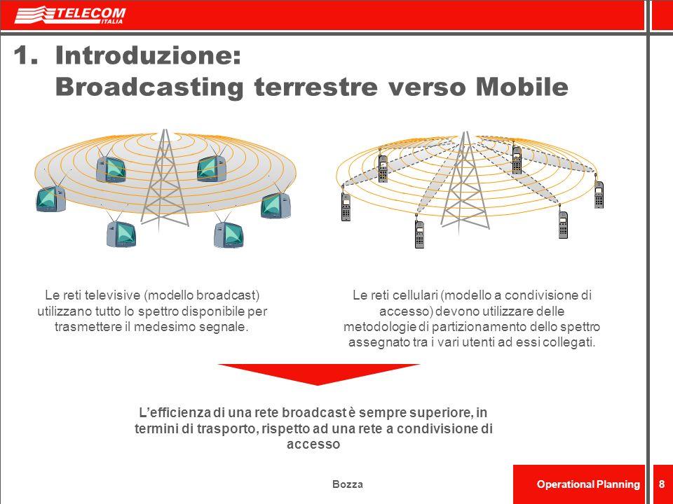 Introduzione: Broadcasting terrestre verso Mobile