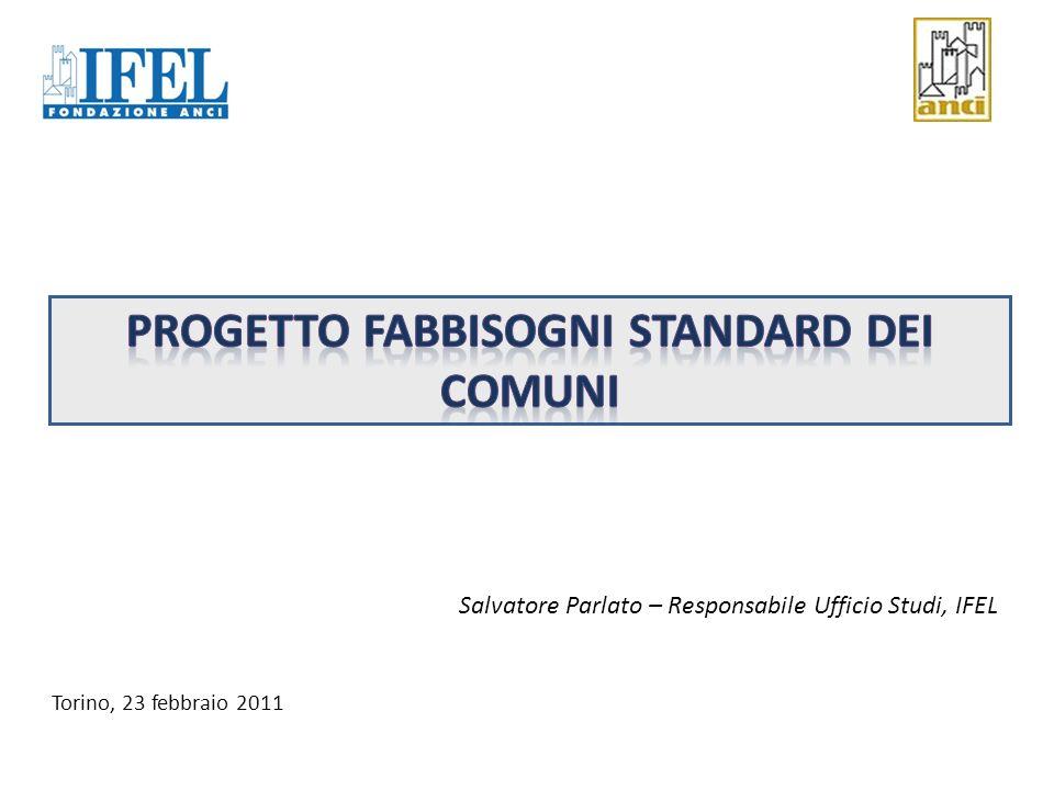 Progetto Fabbisogni Standard dei comuni