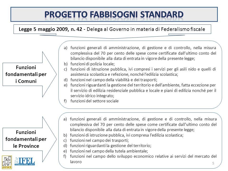 Progetto fabbisogni standard