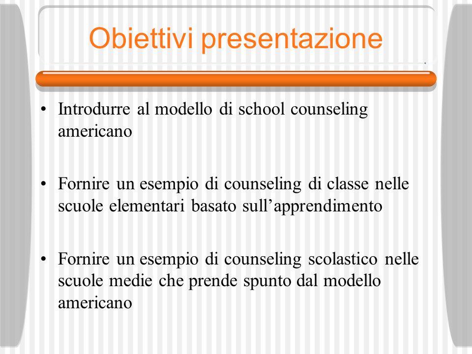 Obiettivi presentazione